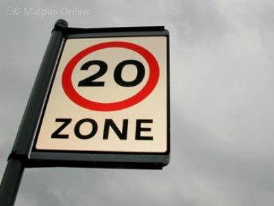 20 mph zone