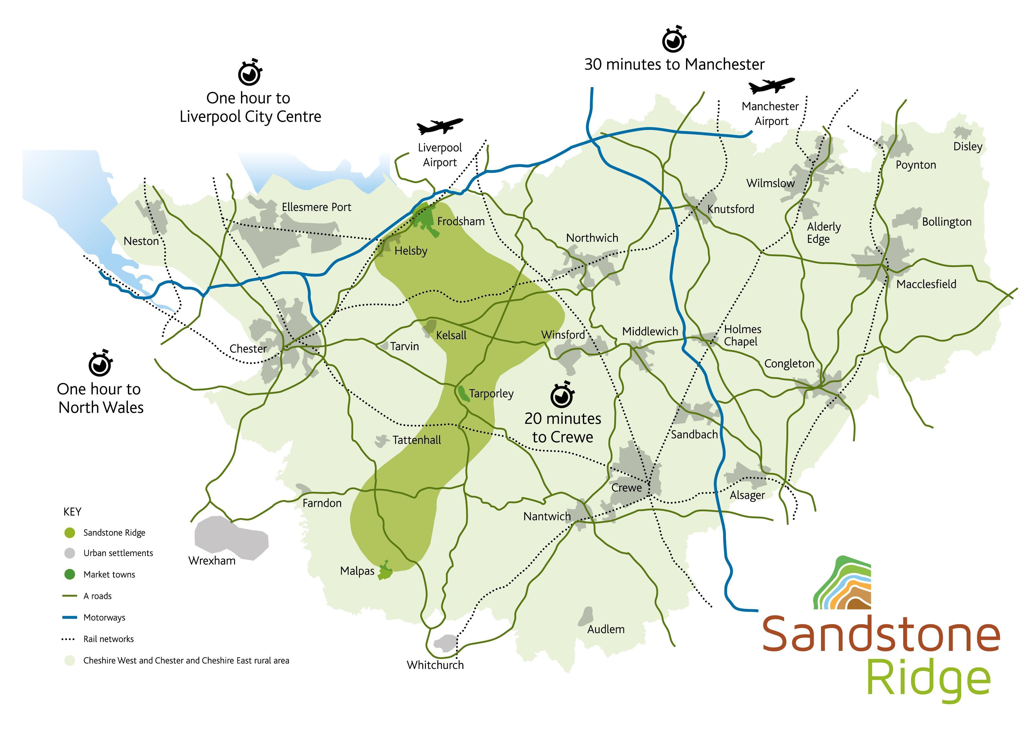 Sandstone Ridge contextual map